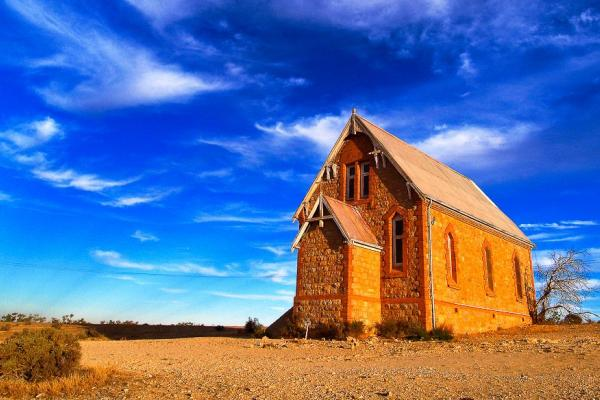 Historic Silverton Church near Broken Hill